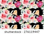 chinese rose and pink clove  ... | Shutterstock . vector #276119447