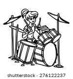 musician playing on drums.... | Shutterstock . vector #276122237