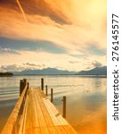 wooden jetty  lake chiemsee ... | Shutterstock . vector #276145577