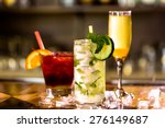 colorful cocktail on top of the ... | Shutterstock . vector #276149687