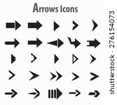 arrows icons vector. | Shutterstock .eps vector #276154073