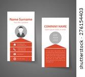 modern simple business card... | Shutterstock .eps vector #276154403