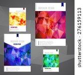 set of vector brochure cover...   Shutterstock .eps vector #276159113