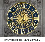 gold and blue ancient clock | Shutterstock . vector #276159653