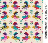 background with parrots | Shutterstock .eps vector #276182447