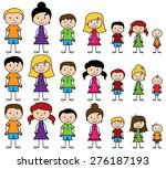 vector collection of diverse... | Shutterstock .eps vector #276187193