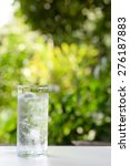 a glass of water with ice on... | Shutterstock . vector #276187883
