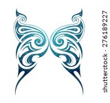 butterfly wings in tattoo style | Shutterstock .eps vector #276189227