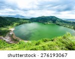 Lake Crater At Taal Volcano...