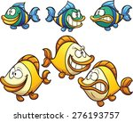 two cartoon fish with different ...