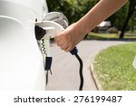 electric vehicle charging   Shutterstock . vector #276199487