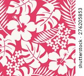 seamless one color tropical... | Shutterstock .eps vector #276205853