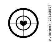 crosshair target heart | Shutterstock .eps vector #276268517