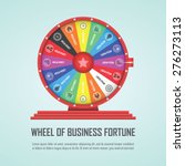 wheel of fortune infographic... | Shutterstock .eps vector #276273113