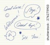 handwritten short phrases.... | Shutterstock .eps vector #276275903