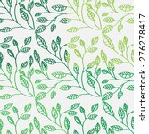 a seamless pattern with leaf | Shutterstock .eps vector #276278417