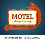 old style american motel road... | Shutterstock .eps vector #276290987