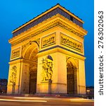 the triumphal arch  on place... | Shutterstock . vector #276302063