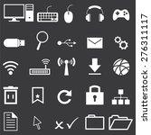 computer icons set   Shutterstock .eps vector #276311117