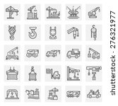 Crane Icons Sets.