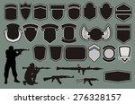 set for designing of military... | Shutterstock .eps vector #276328157