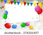 birthday card with colorful... | Shutterstock .eps vector #276331457