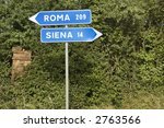 Italian Street Signs With...