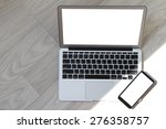 blank screen laptop computer... | Shutterstock . vector #276358757