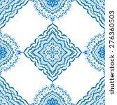 vector seamless blue pattern.... | Shutterstock .eps vector #276360503