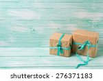 festive present boxes with... | Shutterstock . vector #276371183