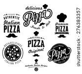 vector illustration pizza logo | Shutterstock .eps vector #276383357