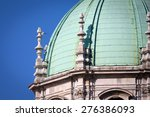 medieval como cathedral on lake ... | Shutterstock . vector #276386093