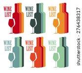vector set concept design wine... | Shutterstock .eps vector #276438317