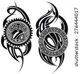 maori styled tattoo pattern for ... | Shutterstock .eps vector #276444017