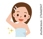 pretty young brunette showing... | Shutterstock .eps vector #276460547