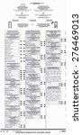 Small photo of Official Election absentee ballot for the 2004 Presidential Election