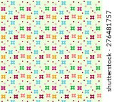 seamless cute flower pattern... | Shutterstock .eps vector #276481757