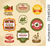 vintage farm labels vector... | Shutterstock .eps vector #276482633