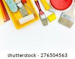 paint roller  tray  brushes ... | Shutterstock . vector #276504563