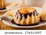 delicious vanilla pudding with... | Shutterstock . vector #276511097