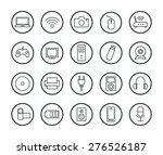 digital technology linear icons ... | Shutterstock .eps vector #276526187