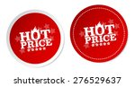 hot price stickers | Shutterstock .eps vector #276529637