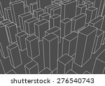 abstract linear city landscape... | Shutterstock .eps vector #276540743