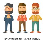 a three young handsome... | Shutterstock .eps vector #276540827