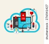 cloud online health medication... | Shutterstock .eps vector #276541427