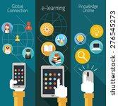 school online  e learning  e... | Shutterstock .eps vector #276545273