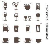 set of icon. glassware for...