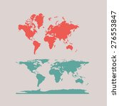 world map vector for flat and... | Shutterstock .eps vector #276553847