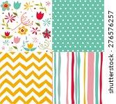 set of seamless patterns   Shutterstock .eps vector #276576257