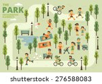The Park Infographic Elements